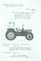 Report test of safety frame SAME T 13 (SPECIAL) mounted on agricultural tractors SAME Drago and SAME Drago DT