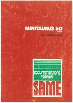 MINITAURUS 60 SYNCHRO - Libretto uso & manutenzione