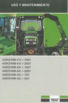 AGROFARM 410 ->16001 - AGROFARM 410 ->20001 - AGROFARM 420 ->16001 - AGROFARM 420 ->20001 - AGROFARM 430 ->1001 - AGROFARM 430 ->5001 - Uso y mantenimiento