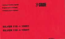 SILVER 115-130 dal n. 10001 - Catalogo ricambi originali / Original parts catalogue / Catálogo peças originais