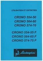 CRONO 554-50 - 564-60 - 574-70 e F - Utilisation et Entretien