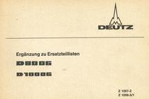 D 80 06 - D 100 06 - Ergänzung zu Ersatzteillisten