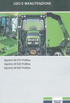 AGROTRON M 610 PROFILINE - AGROTRON M 620 PROFILINE - AGROTRON M 640 PROFILINE - Uso e manutenzione