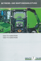 7230 TTV AGROTRON - 7250 TTV AGROTRON - Betriebs - und Wartungsanleitung