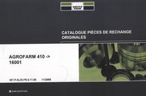 AGROFARM 410 ->16001 - Catalogue pièces de rechange originales