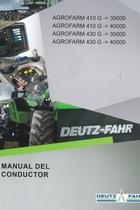 AGROFARM 410 G ->35000 - AGROFARM 410 G ->40000 - AGROFARM 430 G ->35000 - AGROFARM 430 G ->40000 - Manual del conductor