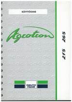 AGROTRON 215-265 - Käyttöohje