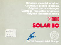 SOLAR 50 - Catalogo ricambi originali / Catalogue pièces d'origine / Original parts catalogue / Catalogo repuestos originales / Original Ersatzteilkatalog