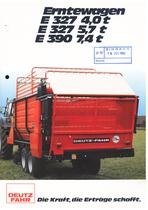 ERNTEWAGEN E 327 4,0 t - E 327 5,7 t - E 390 7,4 t