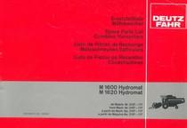 M 1600 HYDROMAT - M 1620 HYDROMAT - Erstatzeilliste ab Masch. Nr. 2107-117 / Spare parts list from mach. Nr. 2107-117 / Liste de pièces de rechange à partir de mach. No. 2107-117 / Lista de piezas de recambio a partir de maquina No. 2107-117