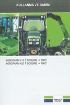 AGROFARM 410 T ECOLINE - AGROFARM 420 T ECOLINE - Kullanma ve bakim