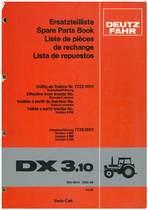 DX 3.10 - Ersatzteilliste / Spare Parts Book / Liste de pièces de rechange / Lista de repuestos