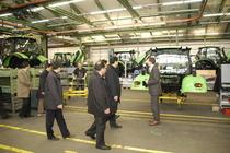 Visita di una delegazione cinese alla vecchia fabbrica di Lauingen