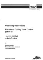 ELECTRONIC CUTTING TABLE CONTROL (EMR-D) - LEVEL CONTROL - AUTO CONTROL for CUTTING HEIGHT - GROUND CONTACT PRESSURE - TRANSVERSE ANGLE - Operating instructions