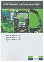AGROTRON M 600-610-620 - Betriebs und Wartungsanleitung