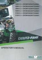5080 G ->ZKDBF00200TD20001 - 5080 G ->ZKDBG20200TD20001 - 5090 G ->ZKDBF40200TD20001 - 5090 G ->ZKDBG60200TD20001 - 5100 G ->ZKDBF80200TD20001 - 5100 G ->ZKDBH00200TD20001 - Operator's manual