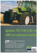 AGROTRON TTV 1130 - 1145 - 1160: 100% di rendimento continuo.