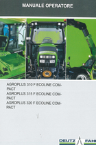 AGROPLUS 310 F ECOLINE COMPACT - AGROPLUS 315 F ECOLINE COMPACT - AGROPLUS 320 F ECOLINE COMPACT - Manuale operatore