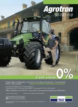 Tre anni a tasso 0%. AGROTRON 90-100-110