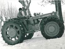 Trattore SAME Centauro sulla neve