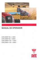 EXPLORER³ 90 ->15001 - EXPLORER³ 90 ->20001 - EXPLORER³ 105 ->15001 - EXPLORER³ 105 ->20001 - Manual do operador