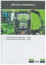 AGROFARM 420-430 PROFILINE - Obsługa i Konserwacja