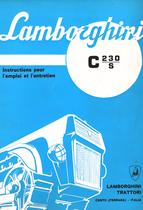 C 230 S - Instructions pour l'emploi et l'entretien