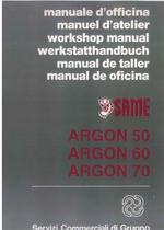 ARGON 50 - 60 - 70 - Manuel d' atelier
