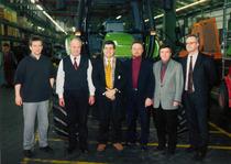 Dirigenti Deutz-Fahr all'interno dello stabilimento di Lauingen