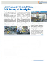 Continuano i lavori nella fabbrica SDF Group di Treviglio