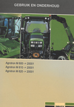 AGROTRON M 600 ->20001 - AGROTRON M 610 ->20001 - AGROTRON M 620 ->20001 - Gebruik en onderhoud