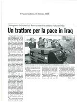 Un trattore per la pace in Iraq