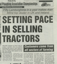 Setting pace in selling tractors