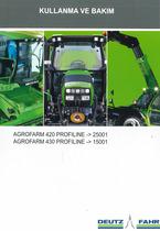 AGROFARM 420 PROFILINE -> 25001 - AGROFARM 430 PROFILINE -> 15001 - Kullanma ve bakim