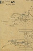 Trattorino 851 - Aratro automatico - Disegno 2051