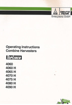 TOPLINER 4060 - 4060 H - 4065 H - 4070 H - 4075 H - 4080 H - 4090 H - Operating instructions