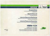 HMW 1124 - Ersatzteilliste / Liste de Pièces de Rechange / Spare Parts List / Elenco dei Pezzi di Ricambio / Lista de Piezas de Recambio