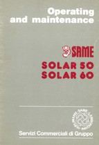SOLAR 50 - 60 - Operating and maintenance