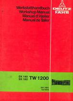 DX 140 - DX 160 - TW 1200 Getriebe / Power train / Transmission / Transmision - Werkstatthandbuch / Workshop manual / Manuel d'atelier / Manual de taller