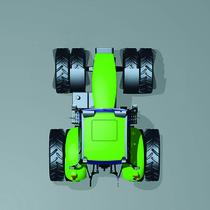 [Deutz-Fahr] disegno di trattore serie Agrotron, vista dall'alto