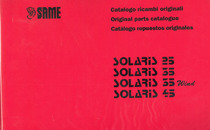 SOLARIS 25 - 35 - 35 WIND - 45 - Catalogo ricambi originali / Original parts catalogue / Catalogo repuestos originales