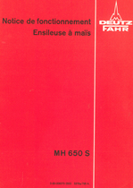 MH 650 S - Notice de fonctionnement