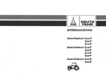 AGROCOMPACT 3.30 V - AGROCOMPACT 3.50 V - AGROCOMPACT 3.70 V - AGROCOMPACT 3.30 F - AGROCOMPACT 3.50 F - AGROCOMPACT 3.70 F - AGROCOMPACT 3.90 F - AGROCOMPACT 3.50 S - AGROCOMPACT 3.90 S - Betriebsanleitung