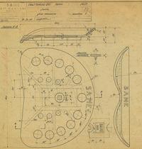 Trattorino 851 - Sedile- Disegno 1628