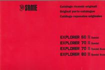 EXPLORER 60 II SPECIAL - EXPLORER 70 II SPECIAL - EXPLORER 70 II SPECIAL BASSO - EXPLORER 80 II SPECIAL BASSO - Catalogo ricambi originali / Original parts catalogue / Catalogo repuestos originales