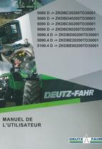 5080 D ->ZKDBC20200TD30001 - 5080 D ->ZKDBD40200TD30001 - 5090 D ->ZKDBC60200TD30001 - 5090 D ->ZKDBD80200TD30001 - 5090.4 D ->ZKDBD00200TD30001 - 5090.4 D ->ZKDBE20200TD30001 - 5100.4 D ->ZKDBE60200TD30001 - Manuel de l'utilisateur