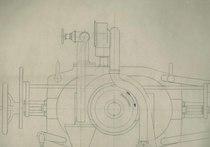 """""""Freno dinamometrico Fronde tipo D.P.X.6"""" - Estratto dal disegno S. 21906"""
