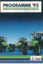 Programme ' 92 Tracteurs sur mesure pour toutes les exigences