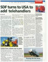 SDF turns to USA to add telehandlers