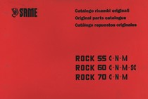 ROCK 55 C-N-M - ROCK 60 C-N-M-SC - ROCK 70 C-N-M - Catalogo ricambi originali / Original parts catalogue / Catalogo repuestos originales